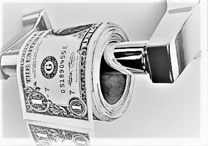 dollaro carta straccia BN